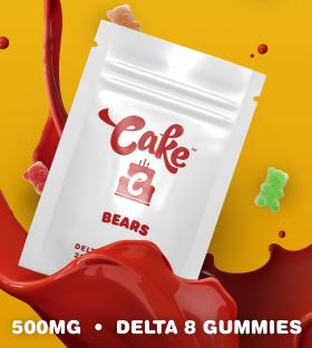 Cake | Delta 8 Gummy Bears (Pack of 20) | 500mg