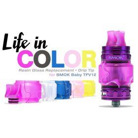 Smok | Acrylic Tube and Driptip TFV12 BABY Prince Tank | New Colors!